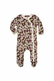 Milkbarn Kids Floral Footed Romper - Product Mini Image