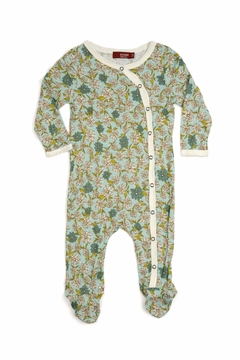 Shoptiques Product: Footed Romper Blue Floral
