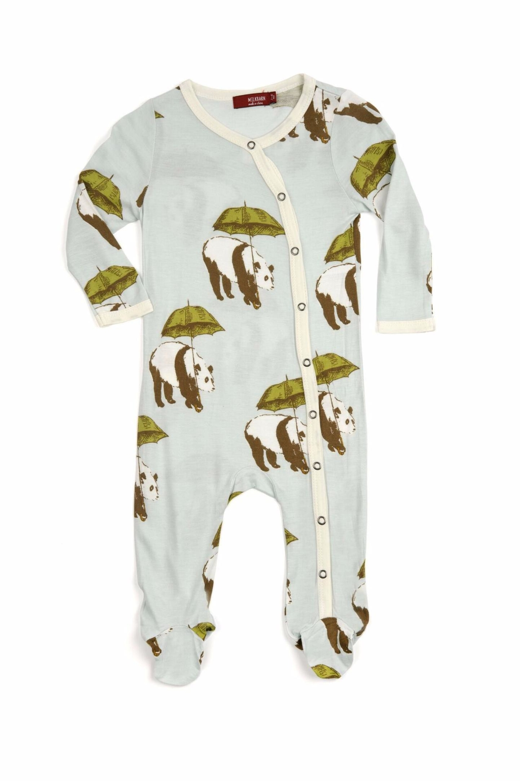 Milkbarn Kids Footed Romper Panada - Main Image