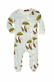 Milkbarn Kids Footed Romper Panada - Front cropped