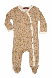Milkbarn Kids Footed Romper Peach Floral - Product Mini Image