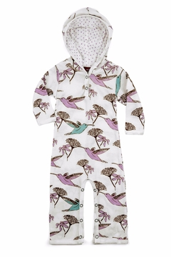 Milkbarn Kids Hooded Romper Hummingbird - Alternate List Image