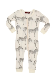 Milkbarn Kids Organic Zipper Pajama - Product Mini Image