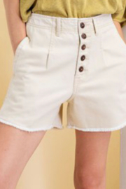 easel  Milly Mineral wash button shorts - Product Mini Image