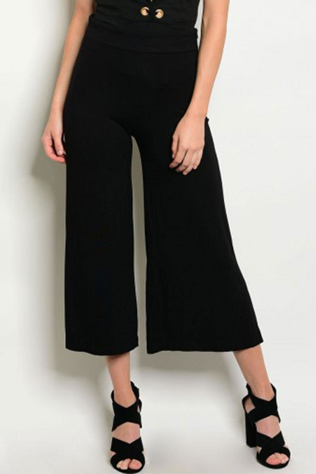 MilkyWay Blk Cropped Gaucho - Main Image