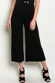 MilkyWay Blk Cropped Gaucho - Front cropped