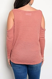MilkyWay Mauve Shoulder Top - Front full body
