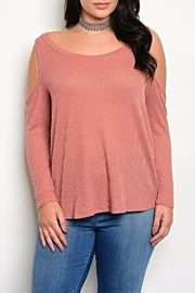 MilkyWay Mauve Shoulder Top - Product Mini Image