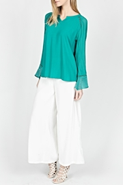 Milla Linear Silky Blouse - Product Mini Image