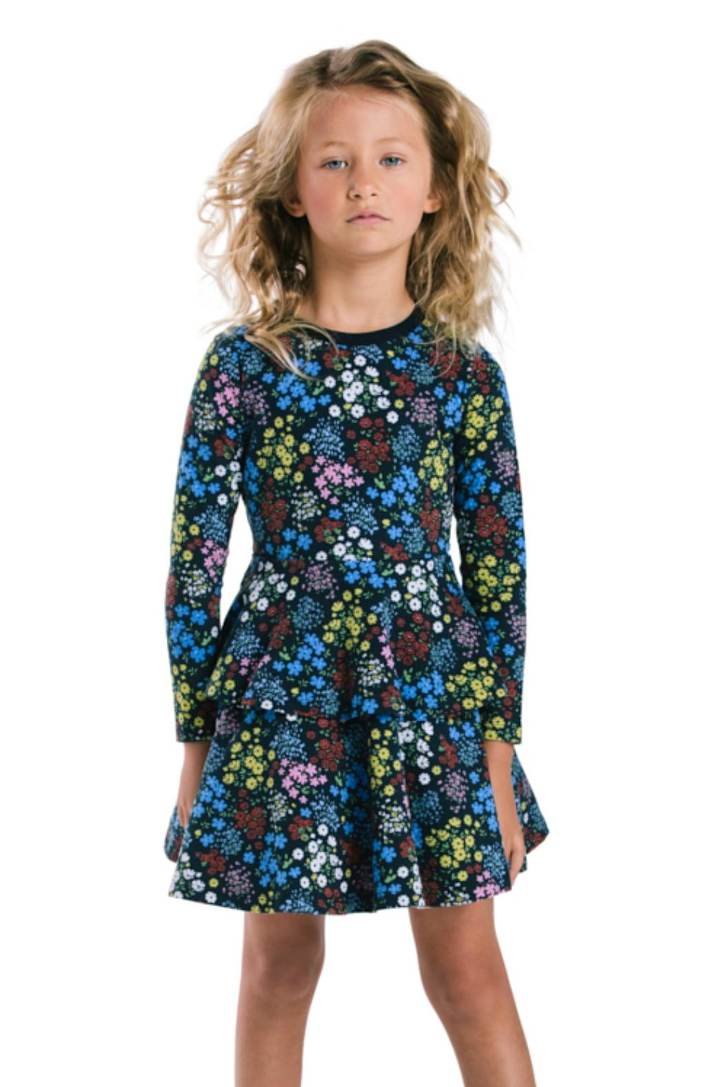 Rock Your Baby Mille Fiori Dress - Side Cropped Image