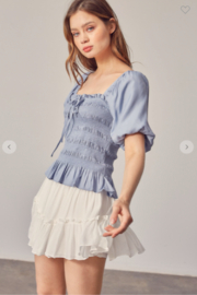 Mustard Seed Millie Puff Sleeve Top - Front full body