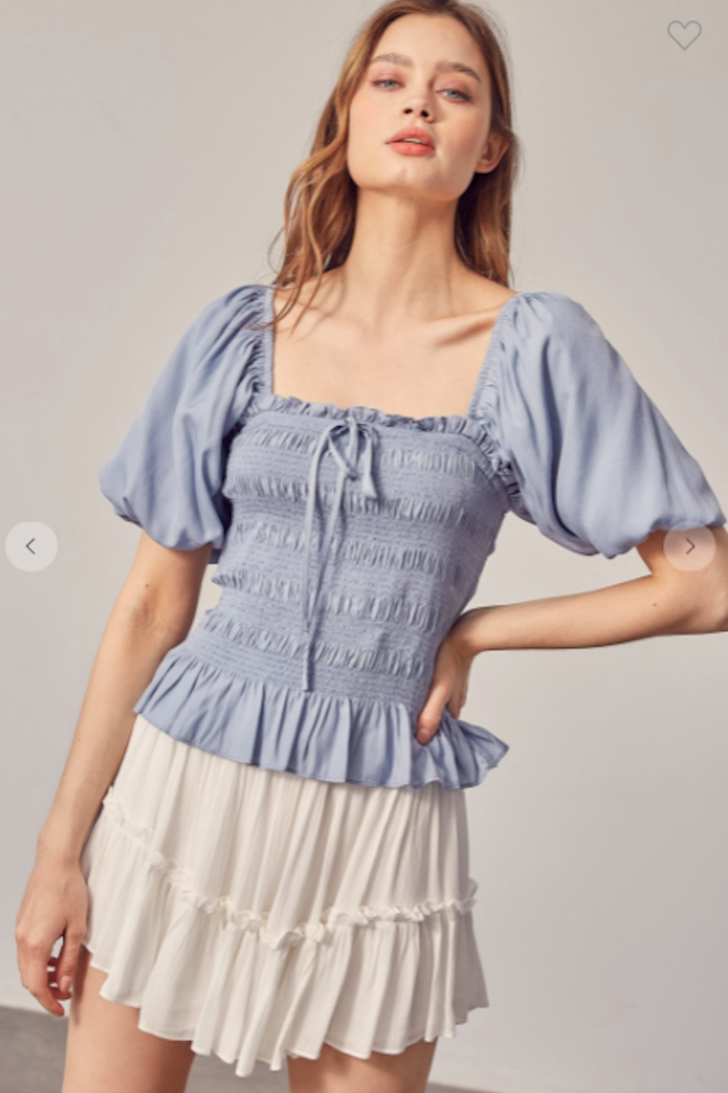 Mustard Seed Millie Puff Sleeve Top - Side Cropped Image