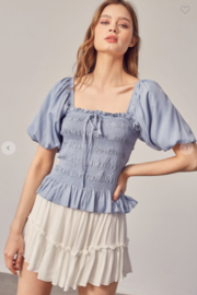 Mustard Seed Millie Puff Sleeve Top - Side cropped