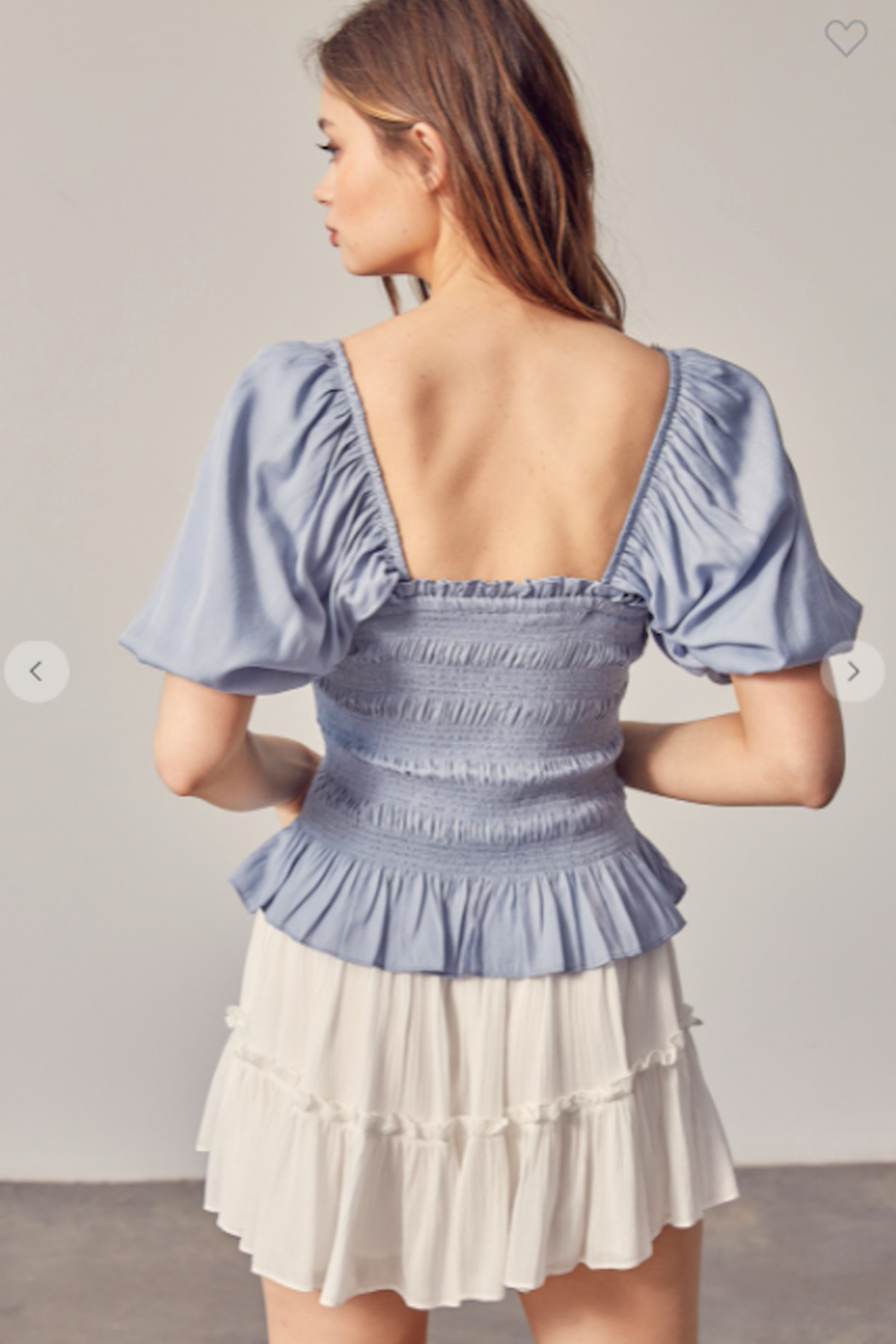 Mustard Seed Millie Puff Sleeve Top - Back Cropped Image