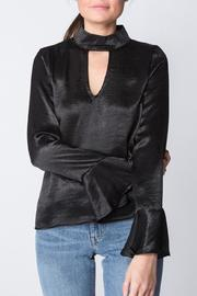 Millibon Black Satin Top - Product Mini Image
