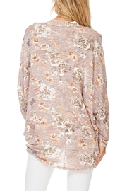 Millibon Blush Floral Cardigan - Back cropped