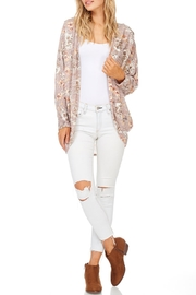 Millibon Blush Floral Cardigan - Front cropped