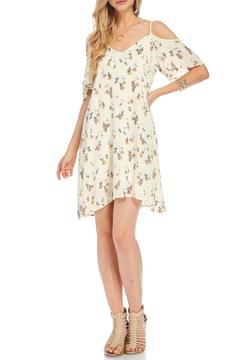 Shoptiques Product: Ivory Cold Shoulder Dress