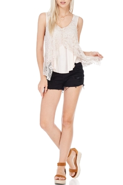 Shoptiques Product: Lace Overlay Dressy Tank