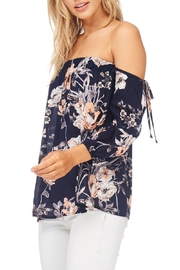 Millibon Navy Cold Shoulder Top - Product Mini Image