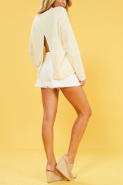 MINK PINK Millie Cross Back Sweater - Product Mini Image