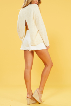 MINK PINK Millie Cross Back Sweater - Product List Image