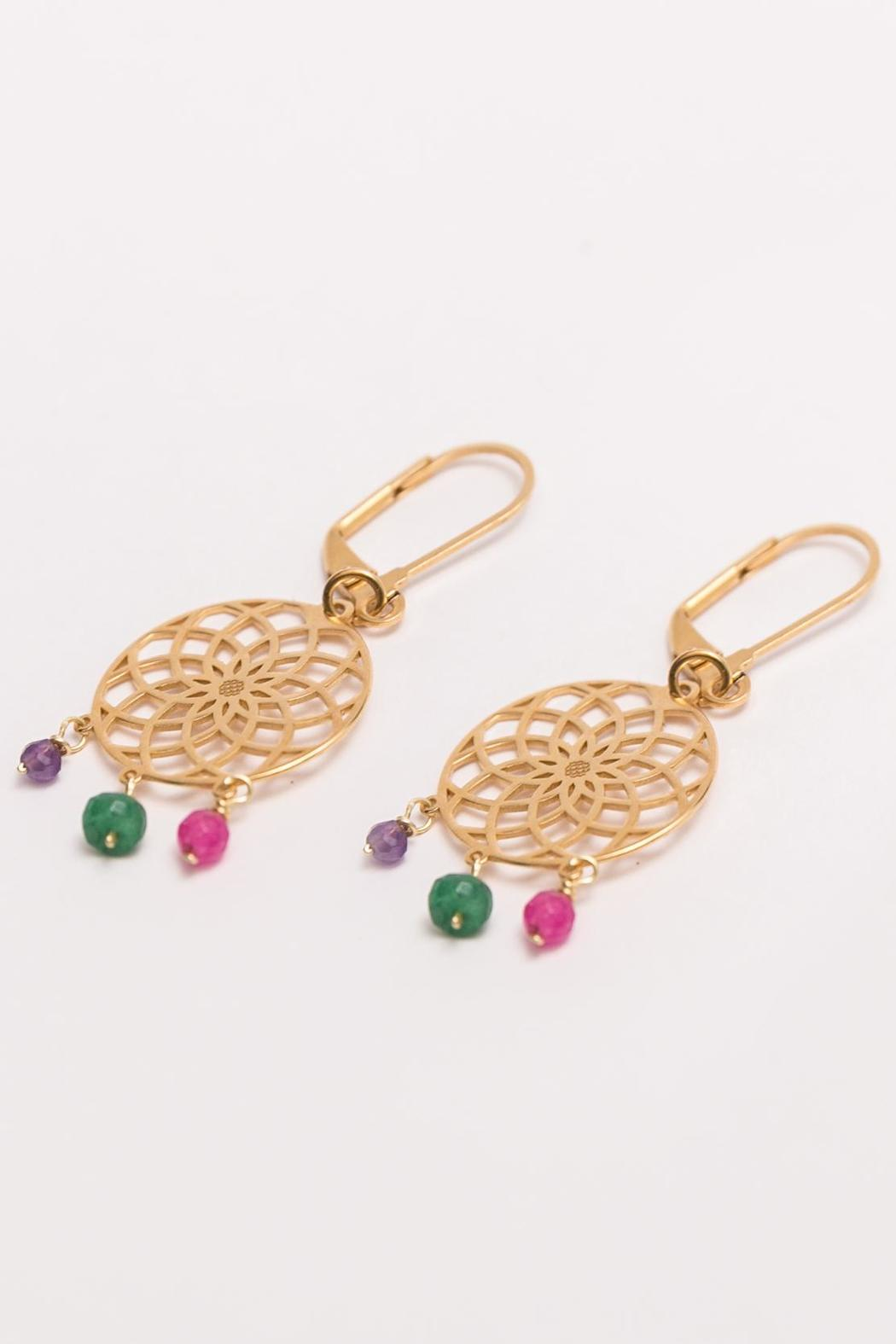 Millie Jewelry Dream Catcher Earrings - Front Full Image