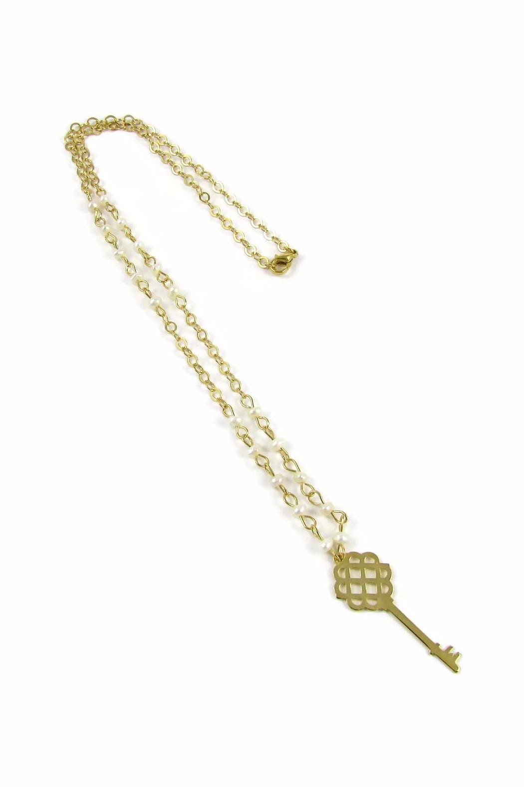 Millie Jewelry Millie Key Necklace - Front Full Image