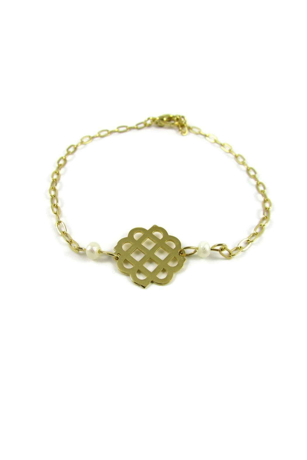 Millie Jewelry Millie Logo Bracelet - Front Cropped Image