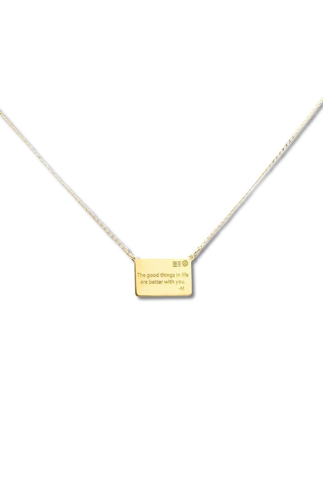 Millie Jewelry Millie Personalized Letter Necklace - Main Image