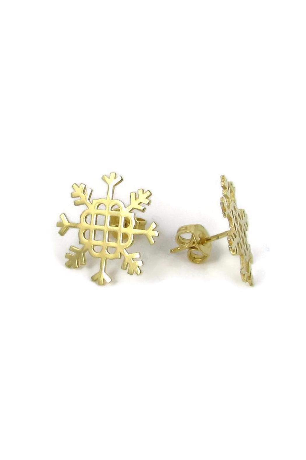 Millie Jewelry Millie Snowflake Earrings - Side Cropped Image