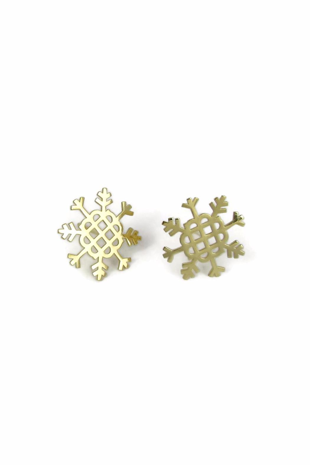 Millie Jewelry Millie Snowflake Earrings - Front Cropped Image