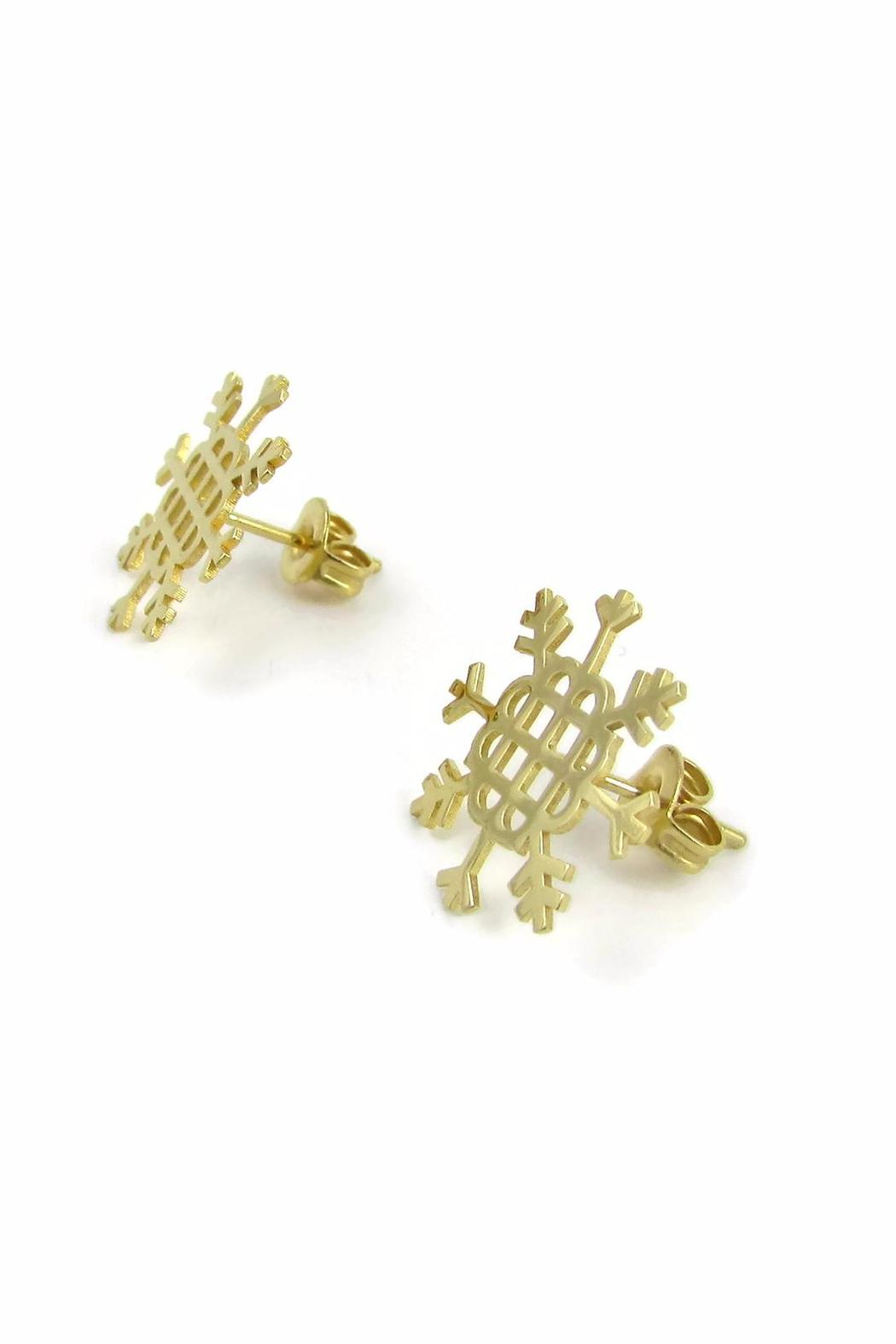Millie Jewelry Millie Snowflake Earrings - Front Full Image