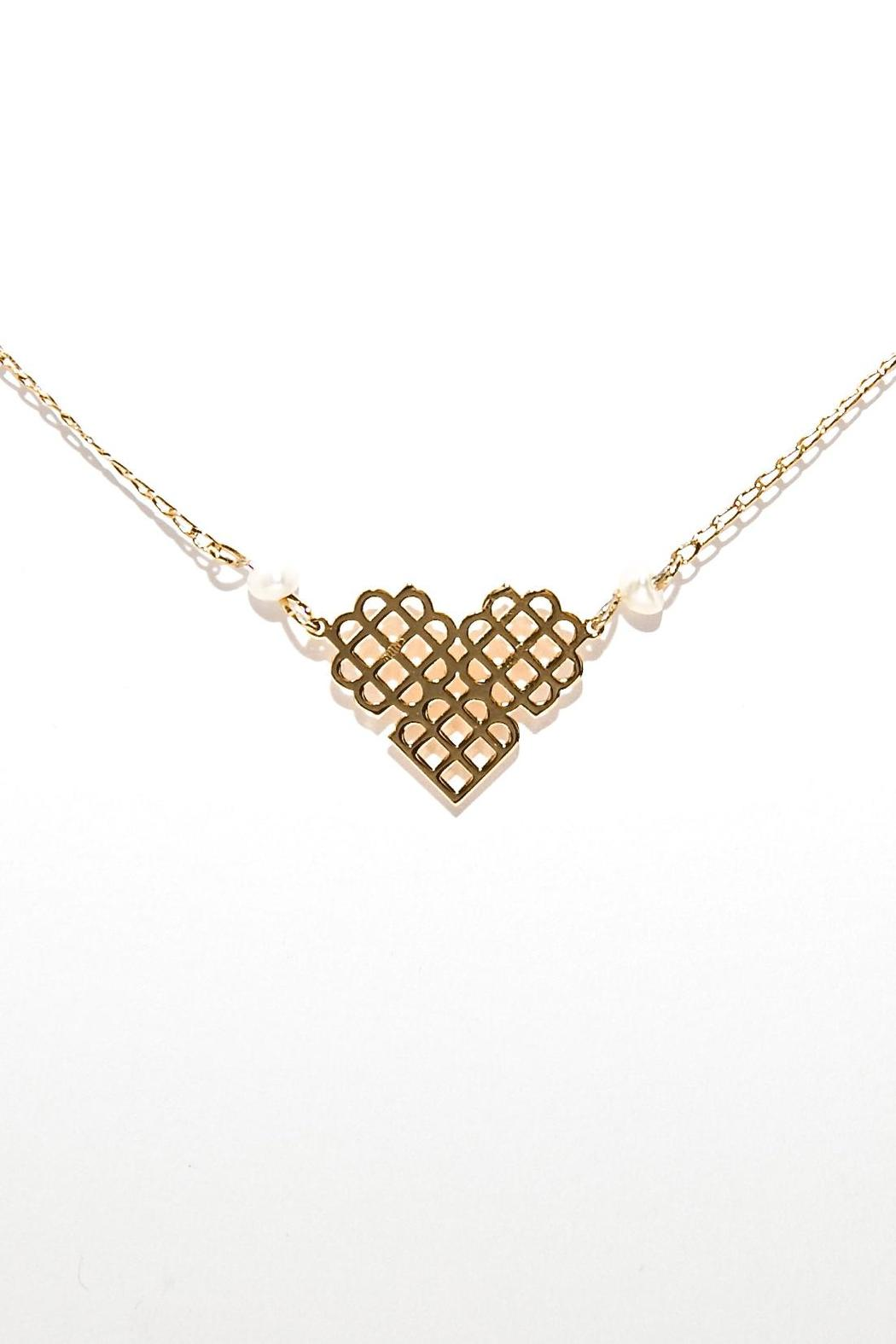 Millie Jewelry Mini Heart Necklace - Main Image