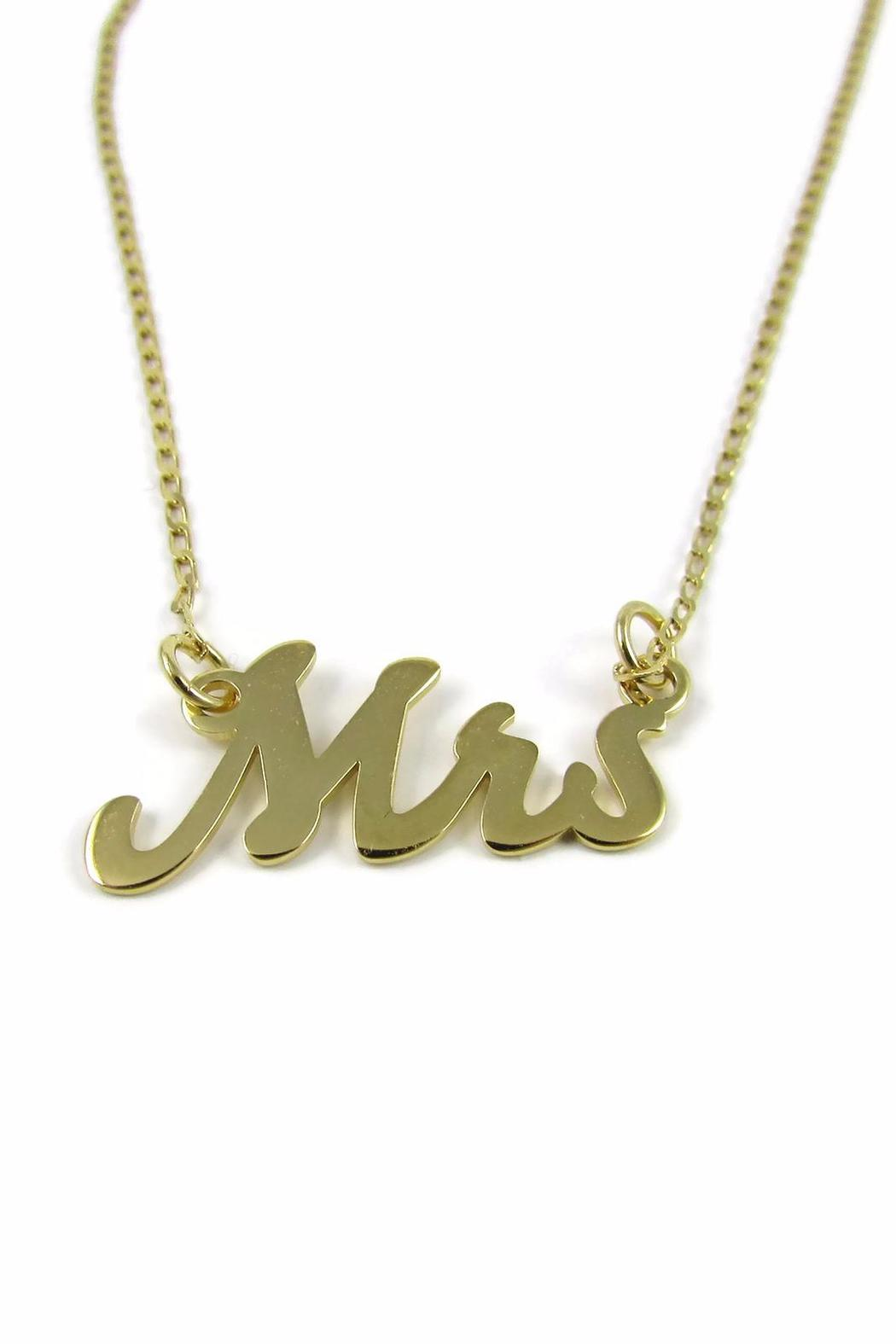 Millie Jewelry Mrs Necklace - Main Image