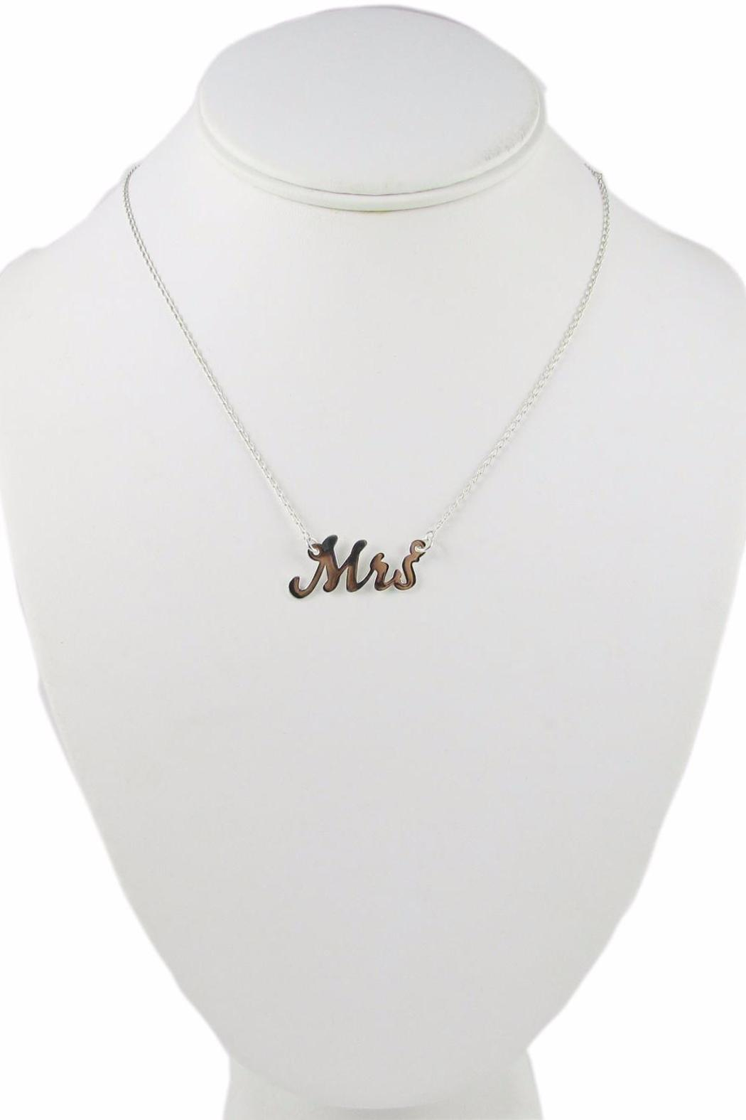 Millie Jewelry Mrs Necklace - Side Cropped Image