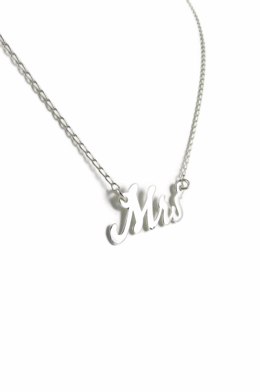 Millie Jewelry Mrs Necklace - Front Full Image