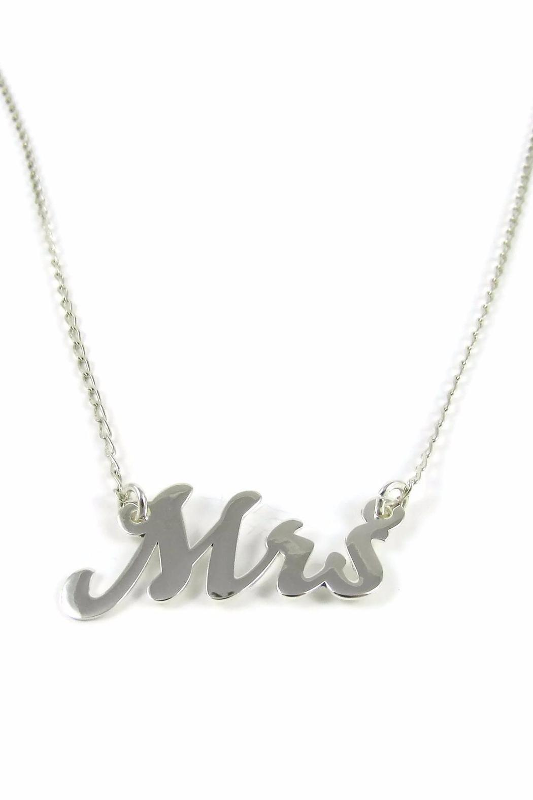 Millie Jewelry Mrs Necklace - Front Cropped Image