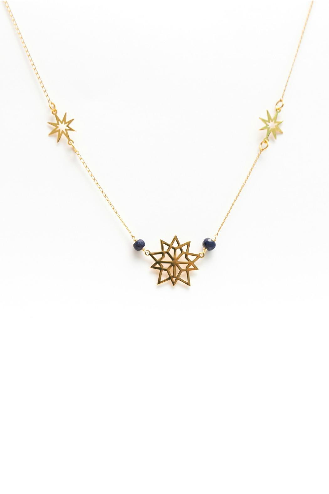 Millie Jewelry Starburst Mini Necklace - Main Image