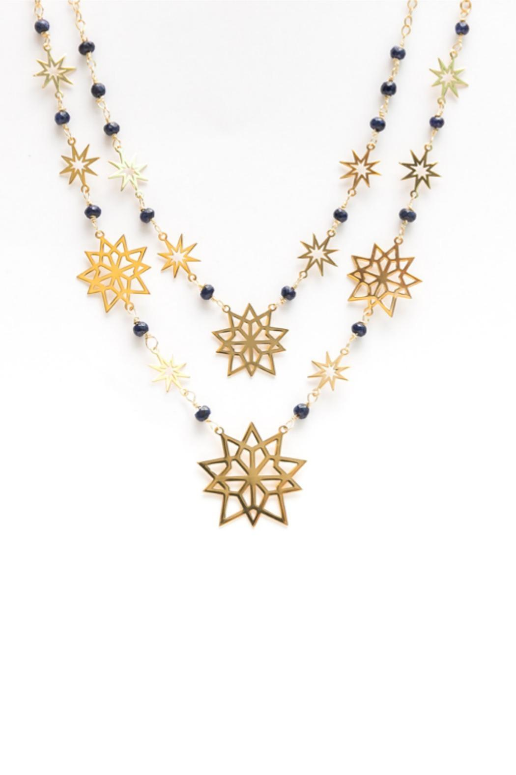 Millie Jewelry Starburst Statement Necklace - Front Cropped Image