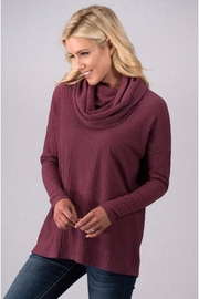 Million Bullpup Mauve Cowl-Neck Sweater - Product Mini Image