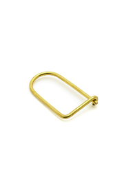 Milly & Earl Brass Key Ring - Front cropped