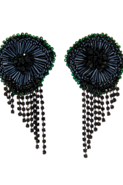 Mignonne Gavigan Milly Flower Chain Fringe Earrings - Alternate List Image