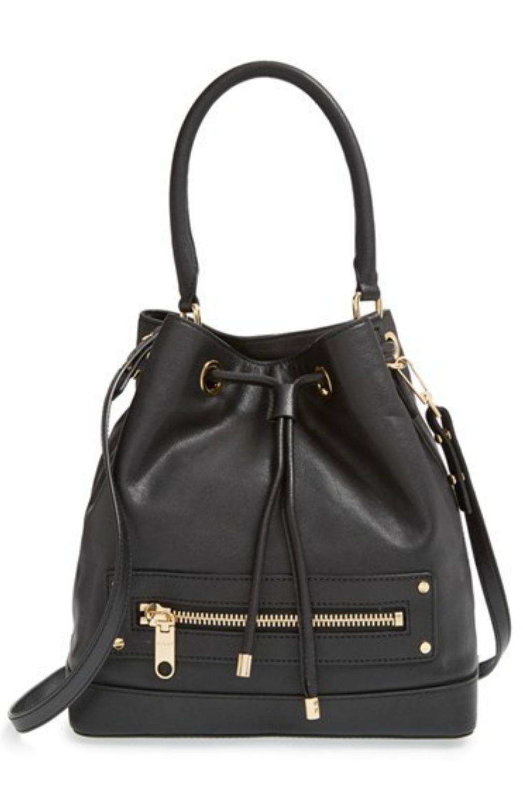 Milly Leather Bucket Bag - Front Cropped Image