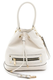 Milly Leather Bucket Bag - Front cropped
