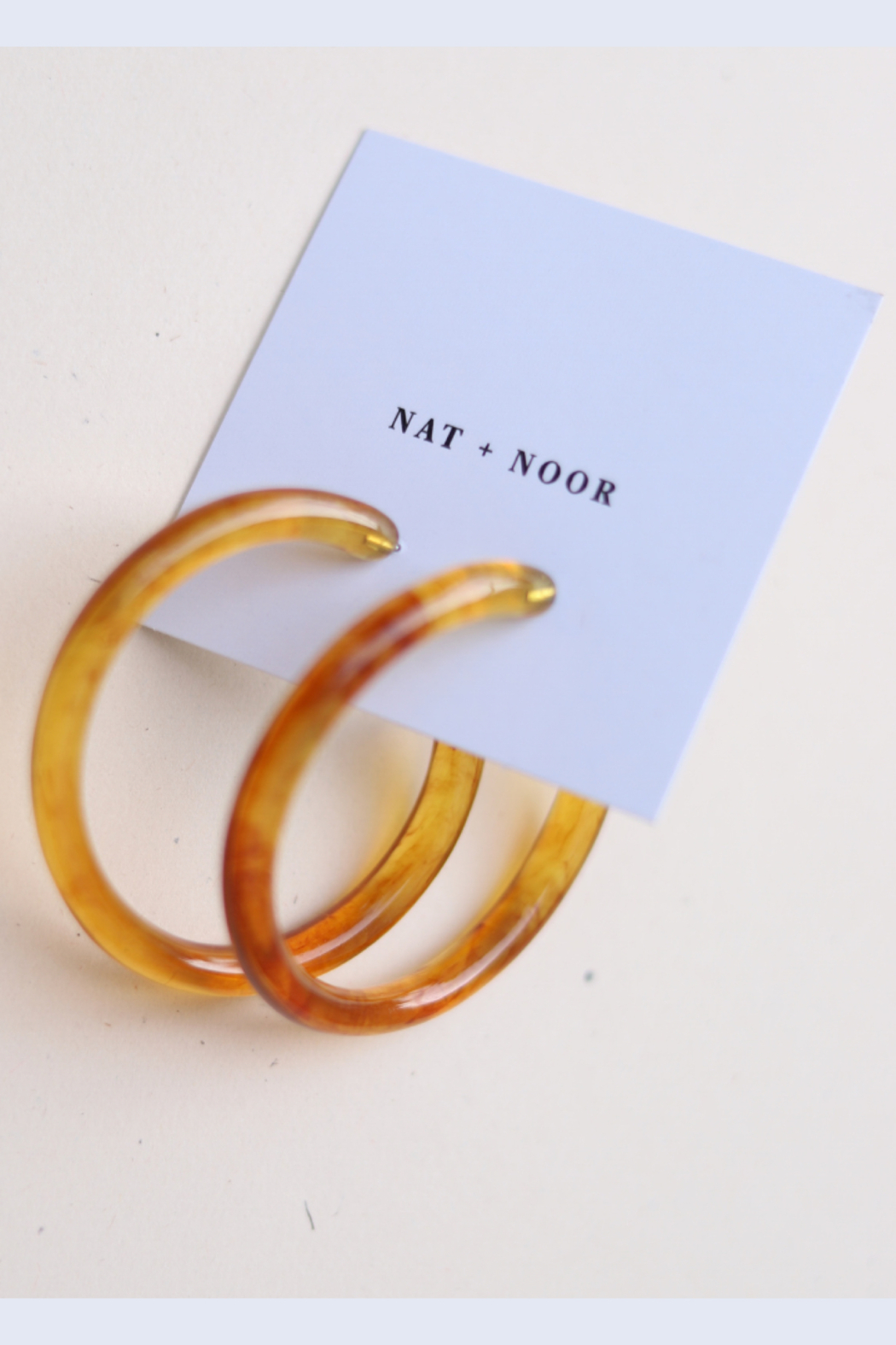 Nat + Noor Milo Hoops In Amber - Side Cropped Image