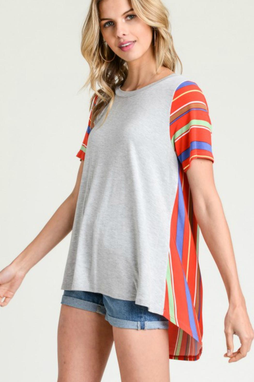 Jodifl Miltifabric Striped Top - Front Cropped Image