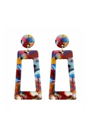 Mimi's Gift Gallery Acetate Multicolor Earrings - Product Mini Image