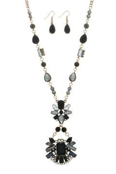 Mimi's Gift Gallery Black Gray Necklace/set - Product List Image