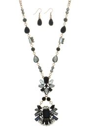 Mimi's Gift Gallery Black Gray Necklace/set - Product Mini Image
